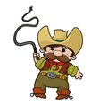 Cowboy with whip vector image