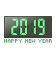 digital count 2019 happy new year greeting card vector image