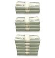 dollar bank notes vector image vector image