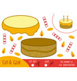 education paper game for children cake vector image vector image