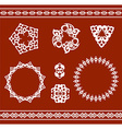 Ethnic ornamented elements of pattern vector image