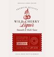 family recipe cherry liquor acohol label abstract vector image