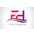 Fh f h letter logo design creative icon modern