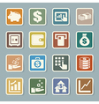 Finance money sticker icon set vector image vector image