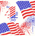 fireworks background for 4th july independence vector image