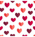 flat stvalentine day pattern with hearts vector image vector image
