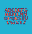 font alphabet type uppercase letters vector image