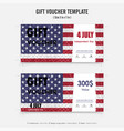 gift voucher american flag background vector image vector image