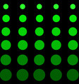 green circle on black background vector image