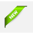 Green corner ribbon for a new item vector image vector image