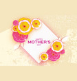happy mother s day greeting card pink yellow cut vector image vector image
