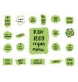healthy food labels hand drawn logo templates vector image vector image