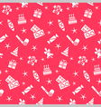 Holiday seamless pattern background vector image vector image