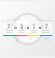 horizontal timeline infographics 4 steps vector image