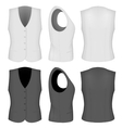 Ladies white and black waistcoats vector image vector image