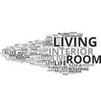 living word cloud concept vector image vector image