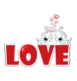 loving dogs couple vector image vector image
