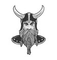medieval viking sketch vector image vector image