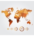 modern concept world map with infographic vector image vector image