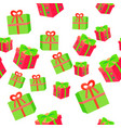 new year boxes with ribbons seamless pattern vector image vector image