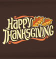 poster for thanksgiving vector image vector image