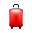 Red luggage isolated on white vector image