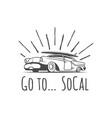 retro car logotype vector image