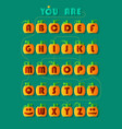 romantic cipher text you are my pumpkin vector image vector image
