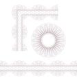 Rosette border and corner vector image