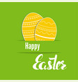 set easter eggs with stripes polka dot vector image vector image