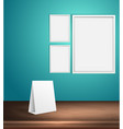 set of blank posters on a wall empty frame vector image vector image