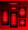 set of different sizes black and red framed vector image vector image