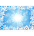 snowflake frame with background vector image vector image