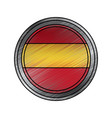 spain flag round national round button icon on vector image