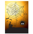 spider and full moon vector image
