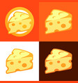 style cheese icon - style cheese icon in flat vector image vector image