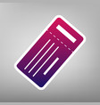 ticket simple sign purple gradient icon vector image vector image