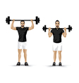 training weight lifting vector image vector image