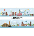 travel to london composition vector image