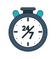 twenty four hours seven days service symbol vector image