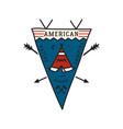vintage camping adventure pennant emblem vector image vector image