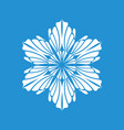 winter snowflake icon simple style vector image vector image