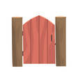 wooden rural wicket cartoon vector image vector image