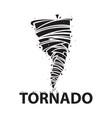 tornado icon stock flat design vector image