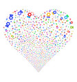 award fireworks heart vector image vector image