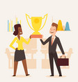 award winning business company man and woman vector image vector image