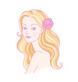 beautiful blondy girl vector image vector image