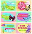 big spring sale set of banners vector image vector image