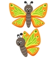 Butterfly As A Funny Character Cute vector image vector image