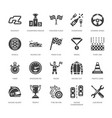 car racing flat glyph icons speed auto vector image vector image